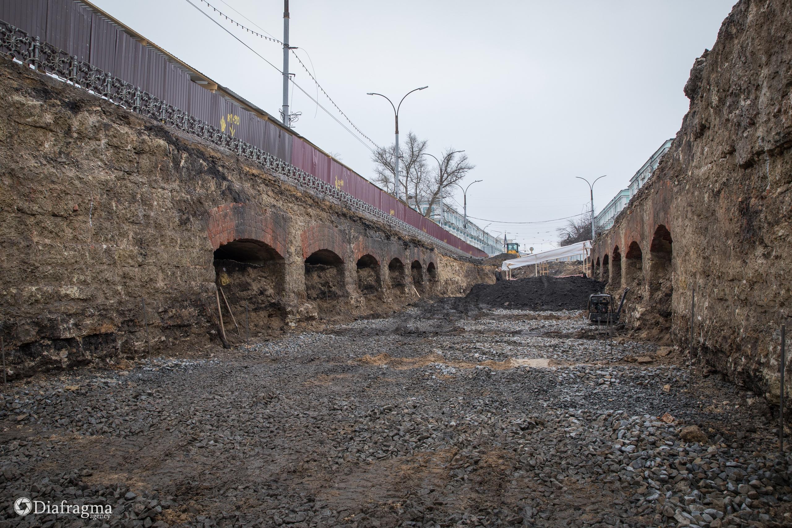 Охранные работы на Красном мосту в Орле